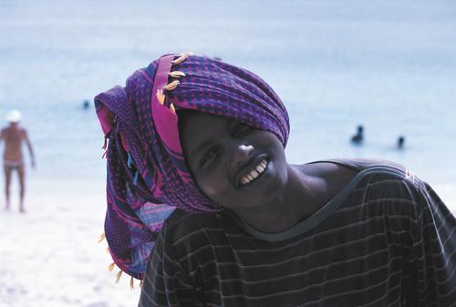 A very happy Somali boy