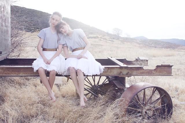 Raul Romo - dagmar and eartha on wagon