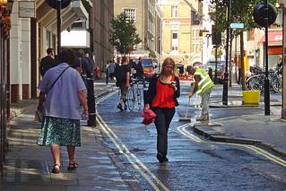Soho London, street after rain