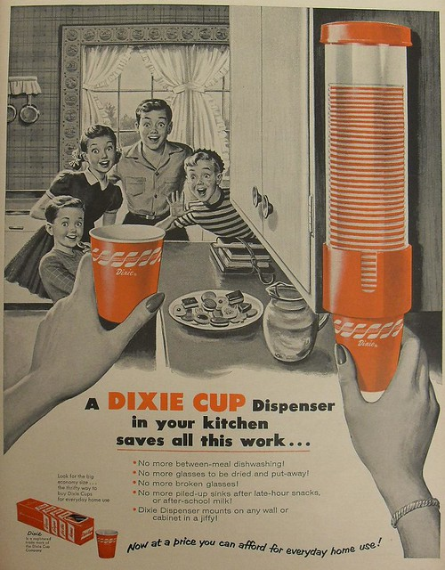 Dixie Cups 1954 Advertisement Illustration Vintage Ad