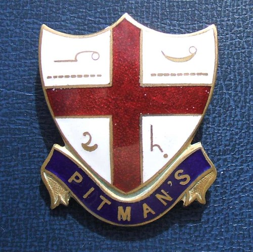 Pitman's shorthand proficiency award badge (c.1922)
