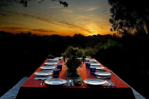 XMAS EVE DINNER PLACE SETTINGS DSCN1609