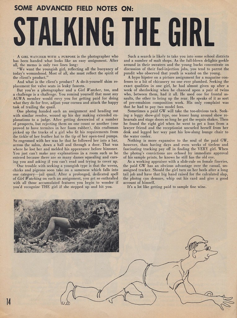 Some Advanced Field Notes on Stalking The Girl