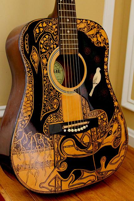 Guitar Designs Art : Sharpie guitar flickr photo sharing