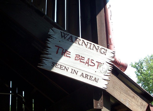Kings Island - The Beast Warning Sign