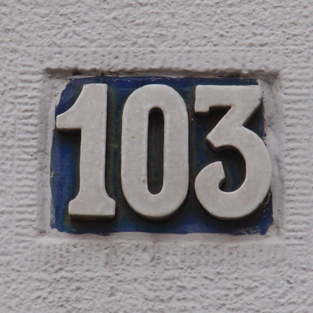 House number 103 numerology year