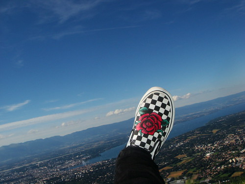 *blue sky,greenland,and my awesome VANS*