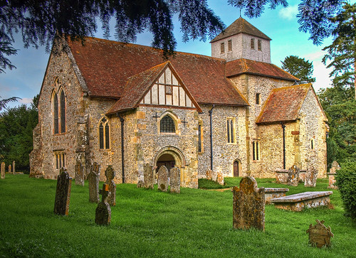The 10th century Saxon church at Breamore in Hampshire