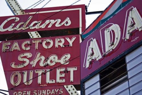 Adams Shoes sign-Chicago, Il