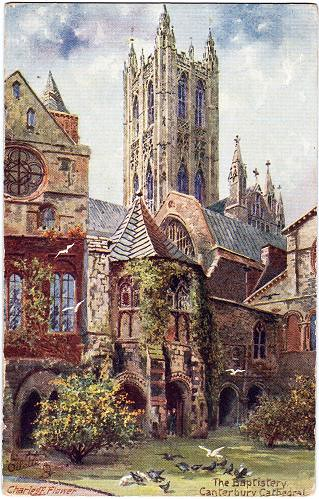 Canterbury Cathedral - old postcard
