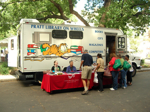 Pratt Library Bookmobile at the Book Festival today