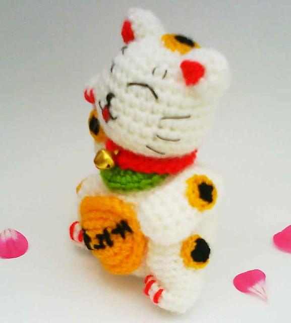 Amigurumi Neko : Maneki Neko Lucky Cat Amigurumi Crochet Pattern Flickr ...