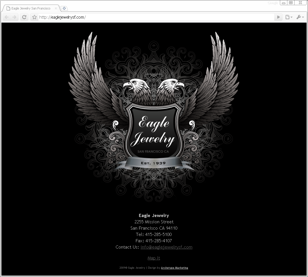 Eagle Jewelry Website (placeholder)