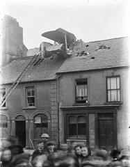Aeroplane on roof at Barrack Street, Waterford by National Library of Ireland on The Commons