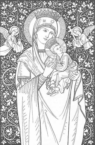 coloring pages catholic virgin mary - photo#28