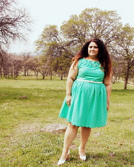 Mint green basketweave eyelet dress