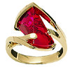 Lens Cut Created Ruby Ring by Strellmans