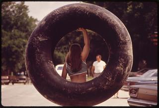Campers in Garner State Park, 07/1972