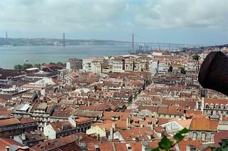 65. //136g/2c/242/5f - Ponte 25 de Abril over the Tagus / Tejo River, Baixa Lisboa / Lisbon 1987
