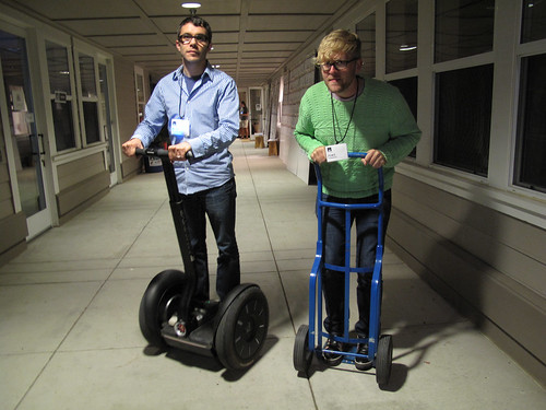 Segway Race Between Nick & Joel, Nick has a slight advantage