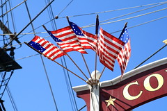 Flags Outside the Columbia Dock at Disneyland