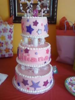 Liliana S Birthday Cake Bottom Layer Was Yellow Cake