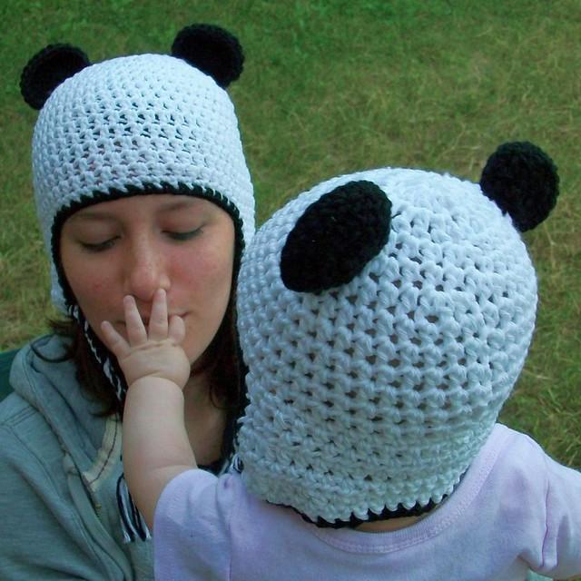 Panda Earflap Hat Set - Mom & Baby