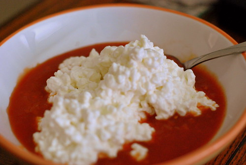 Cottage Cheese and Salsa is tasty