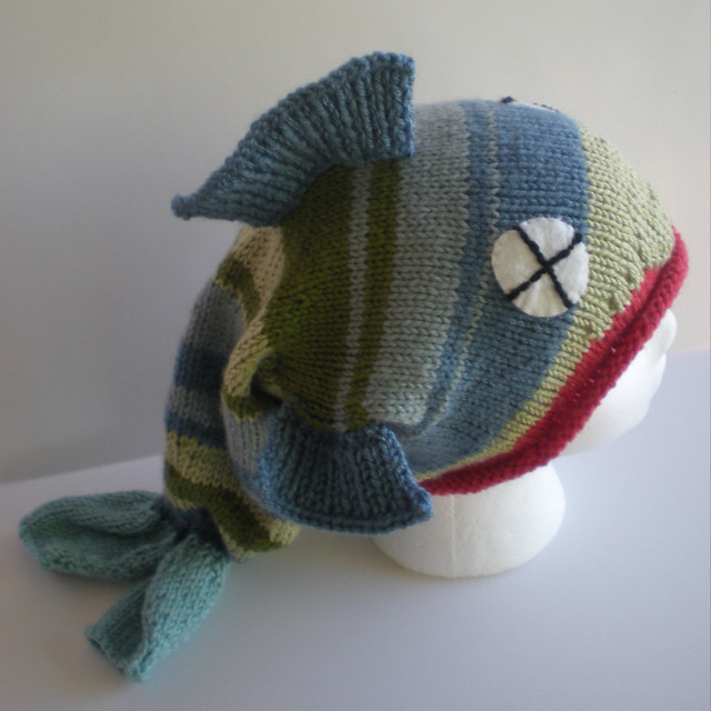 Knitting Pattern For Fish Hat : fish hat Flickr - Photo Sharing!