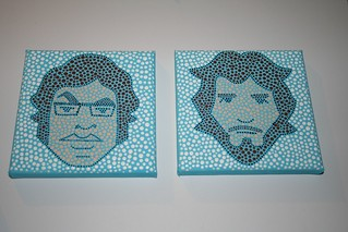 Flight of the Conchords dot paintings