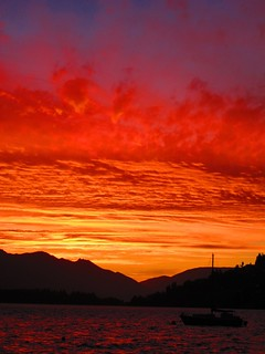Queenstown, sunset at 10:30 p.m.