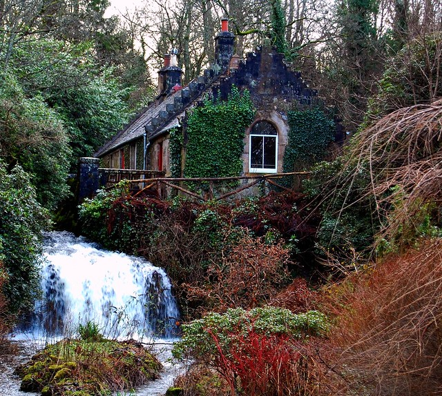 Hidden Scottish Woodland Cottage And Waterfall Flickr Photo Sharing