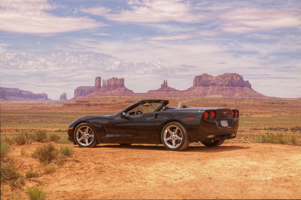 Vette in Monument Valley (again)