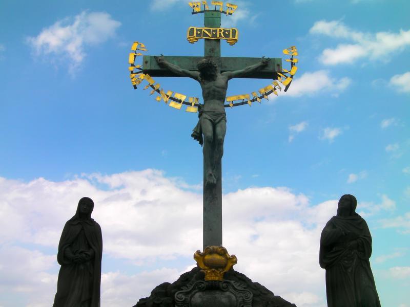 The Crucifix and Calvary, Charles Bridge Prague