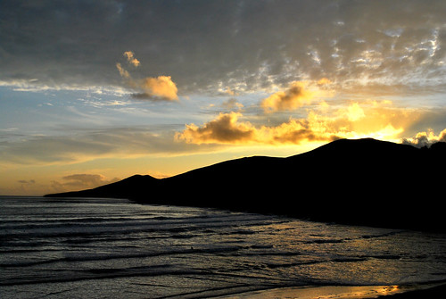 sunset sea sky reflection clouds inch kerry surfers nikond60 gracemiller