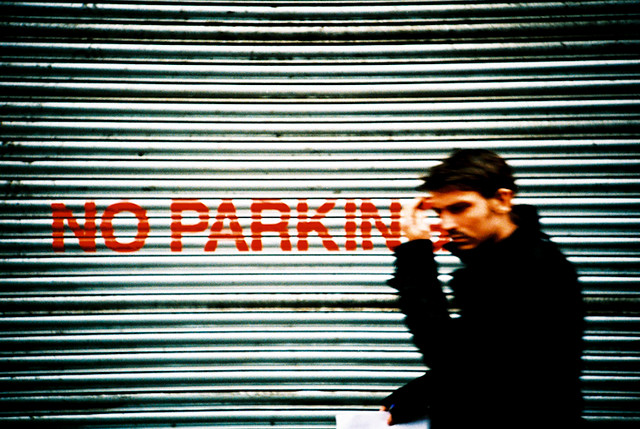 no parking man