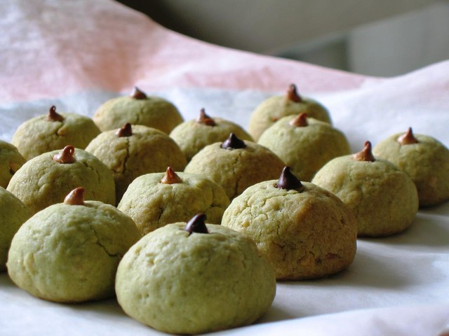 Matcha Almond Cookie   Flickr - Photo Sharing!