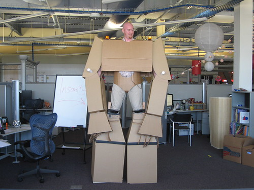 Cardboard Suit in the Office 41