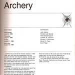 ch. 1, Archery: 1980 Olympic Games in Moscow Cookbook and Schedule of Events