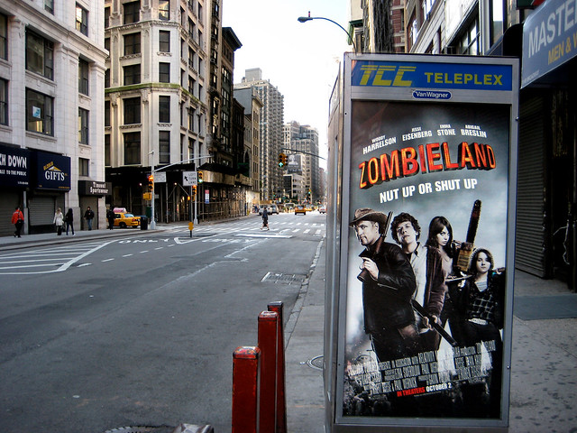 zombieland movie film poster phone booth 667 a photo on