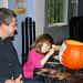 Decorating Our Halloween Pumpkin by hubertk