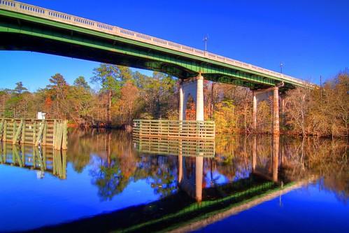 bridge autumn trees reflection green fall sc river conway tripod southcarolina hdr gitzo photomatix 5exposure arcatech tokinaatx116prodx gt2531