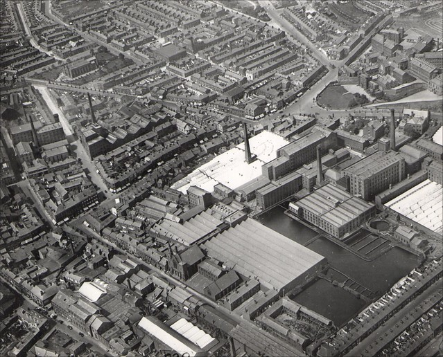 Horrockses Yard Works, Preston. Aerial Image 1938 (+ film link)