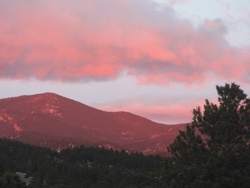 pink mountains sunrise colorado peak evergreen bergen