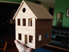 wood, birdhouse, house, dollhouse, toy,
