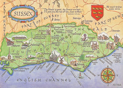 Map-of-Sussex,-UK