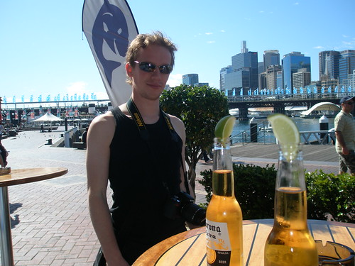 Phil and Corona at Darling Harbour