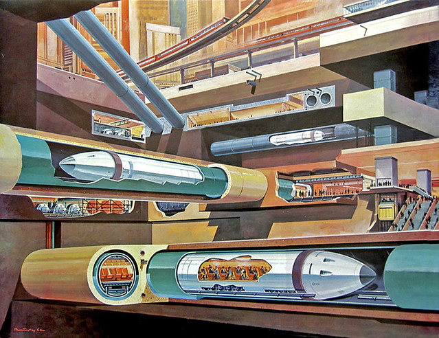 1969- tube trains under city - Klaus Burgle