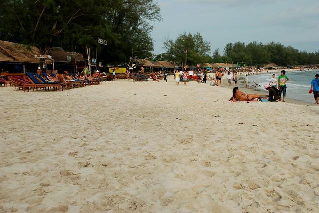 Sihanoukville Beach - photo from Flckr CC by Damien @ Flckr
