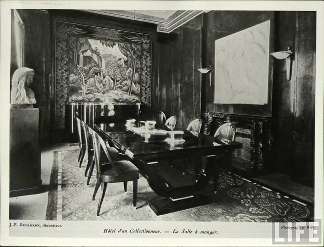 Paris exposition 1925 ruhlmann pavilion interior for Salon art deco paris